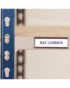 Etiquetas magnéticas para estantes para cargas médias e leves