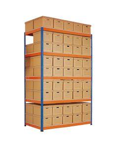 Estantes de Aço Metal Point Plus com caixas de arquivo