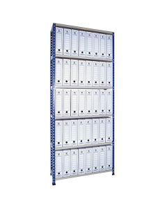 Estante de Aço Metal Point 2 com arquivos de papelão branco