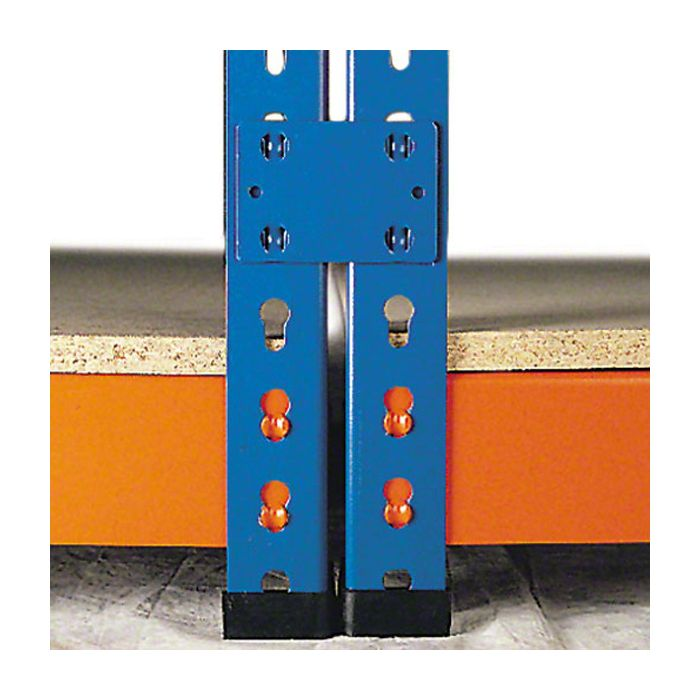 União entre módulos para estantes para cargas médias e leves