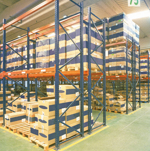 Metal Point 2 metal shelves for warehouses